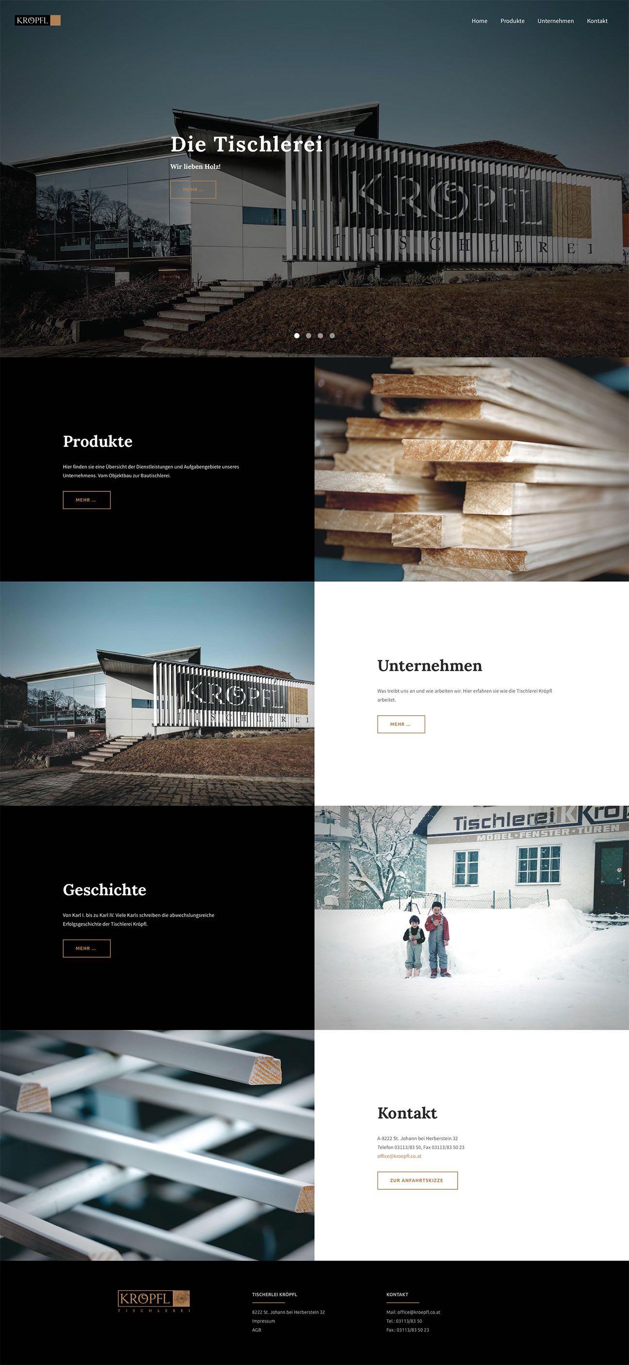 Kröpfl Website 2016