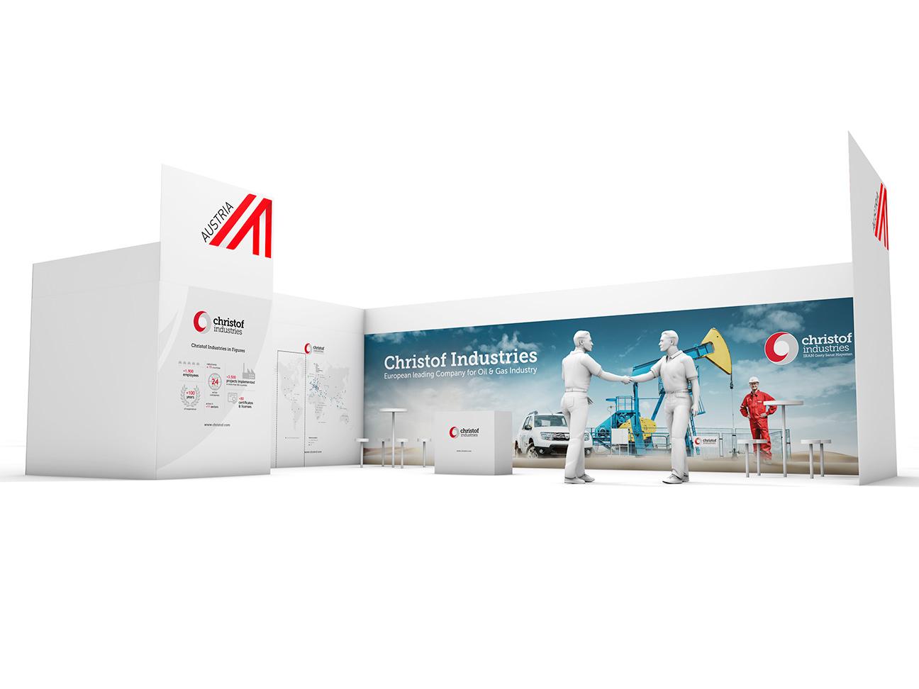 Christof Industries Messestand